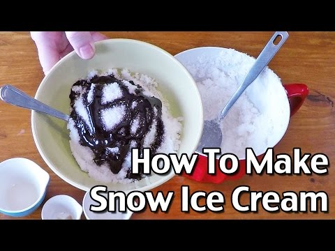 Homemade Snow Ice Cream Recipe / Snow Cream