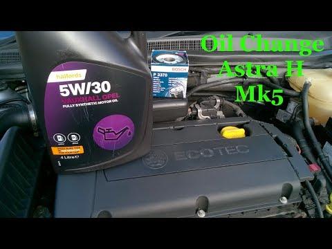 Vauxhall Astra H Mk5 Oil Change