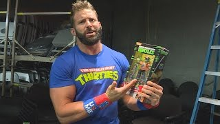 TMNT WWE Ninja Superstars Leonardo as John Cena action figure unboxing with Zack Ryder
