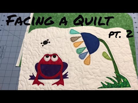 Facing an Art quilt with uneven edges