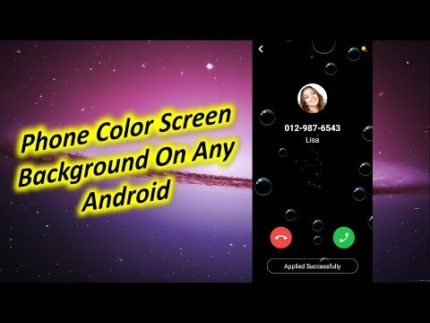 Change Phone Color Screen Background On Any Android Devices