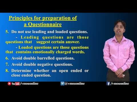 Construction Of Questionnaire | Dr. Patanjali Mishra