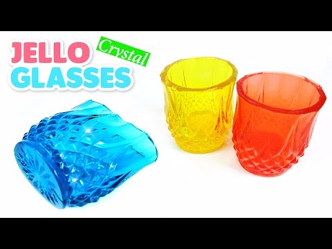 DIY Crystal Jello Glasses ! Rainbow Gummy Cups Recipe | MonsterKids