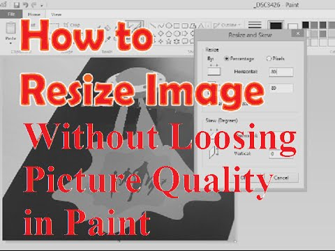 How to Reduce Image Size without loosing picture quality in Paint