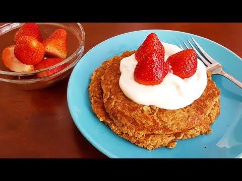 How to make Healthy Pancakes   Pancake Series   Apple Oatmeal   Vegan/Diabetic-friendly