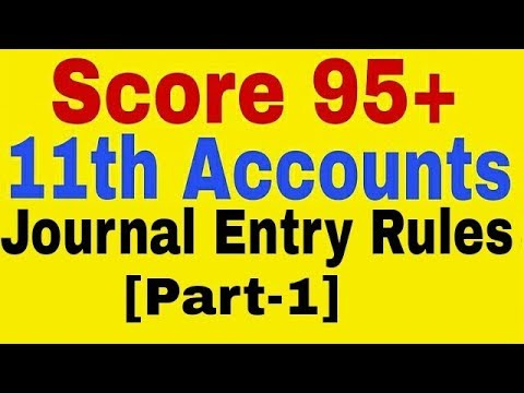 Basic Journal Entry Rule(Part-1)Class 11th Accounts