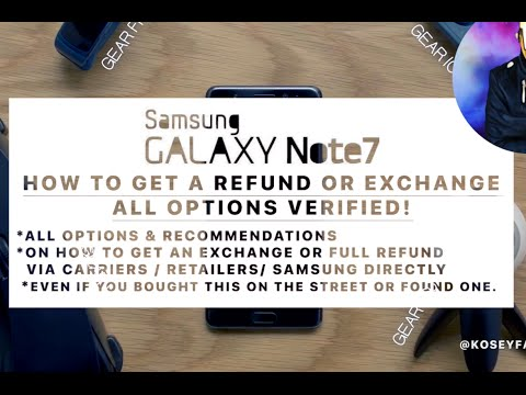 Any Galaxy Note 7 Recall Return & Refund Process