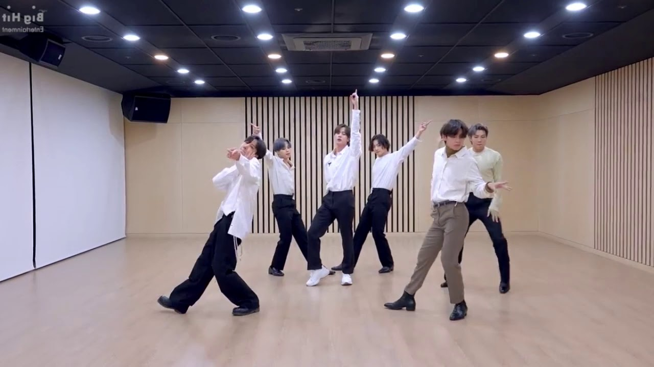 BTS (방탄소년단) 2020 MMA 'Dynamite' 'Dance Break' Practice Mirror Choreography.