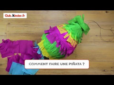 club.kinder.fr - DIY - Comment fabriquer une piñata ?