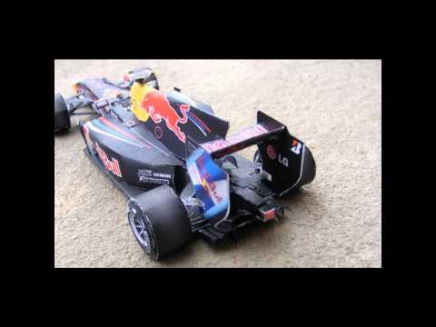 F1 Paper Car - Vettel & Red Bull World Champion