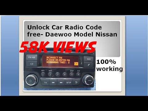 Radio code free unlock Daewoo model Nissan car radio