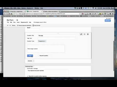 How to create a Google Form and embed it in Dreamweaver