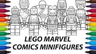 How To Draw Lego Marvel Comics Minifigures Compilation Video
