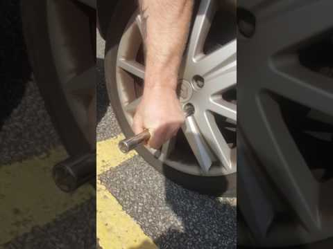 How to remove a locking wheel nut without the key. No damage