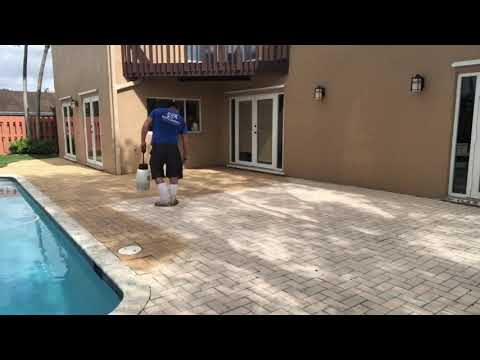 How to Stain Cement Pavers with new Dyeing Process
