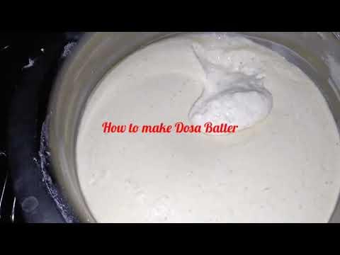 How to Make Perfect Dosa Batter / Dosa Pindi / Dosa Rubbu Preparation Method in Telugu