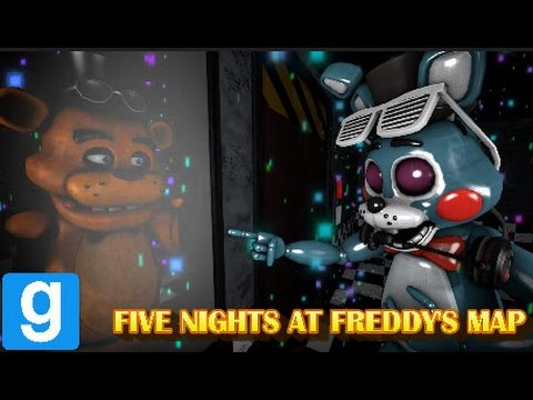 THE BEAR VS THE BUNNY! (Sort of) || FNAF Gmod Map (feat