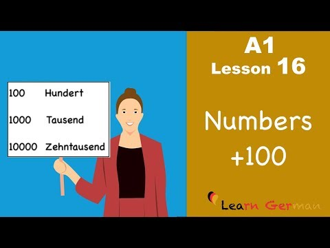 Learn German | Numbers (Part 3) | Zahlen | German for beginners | A1 - Lesson 16