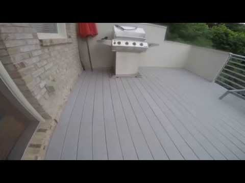 cleaning mold from deck. before and after video