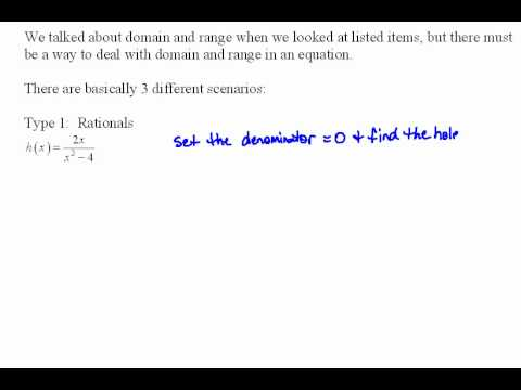 Finding Domain of a Function Part 1 3.1