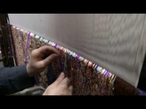 ► Weaving a Silk Rug / Carpet in Qom / IRAN