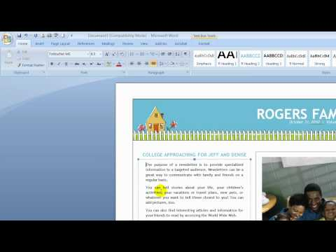 How to Create a Newsletter in Microsoft Word