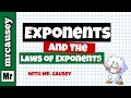 Exponents and the Laws of Exponents (Powers)