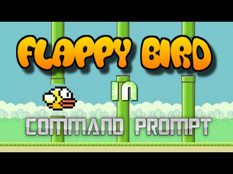 Flappy Bird in Command Prompt! 2016