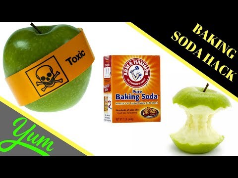 Apples Baking Soda Cleaning Hack - How to Remove Pesticides From Fruit Vegetable Remove Insecticides