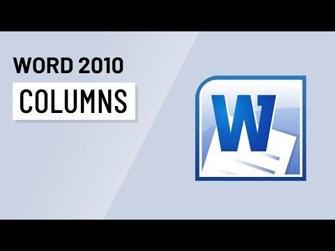 Word 2010: Columns