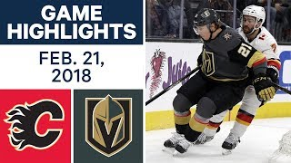 NHL Game Highlights | Flames vs. Golden Knights - Feb. 21, 2018