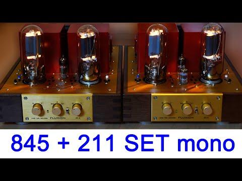 845 211 switchable SE monoblock tube amplifier FLUXION NT-6 building & testing