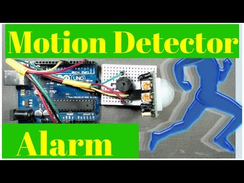 How to make a motion detector alarm using pir sensor