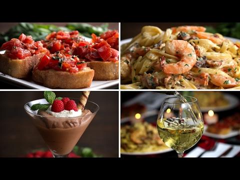Garlic Shrimp Alfredo Dinner For Two
