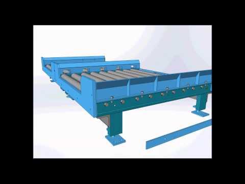 3530 Gravity Conveyor with Axle Keeper Bar