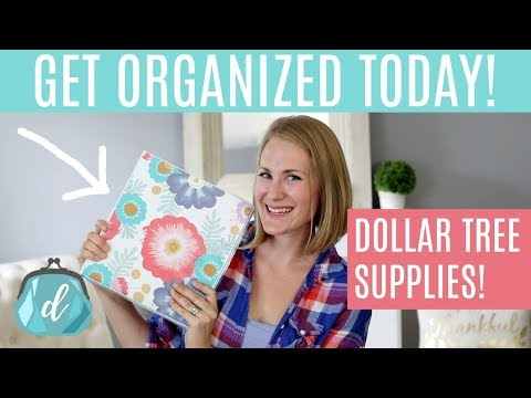 GET ORGANIZED ON A BUDGET! 🏡 Dollar Tree & Do It On A Dime Home Binder
