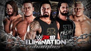 WWE 2K18 Elimination Chamber - John Cena vs Reigns vs AJ Styles vs Ambrose vs Rollins vs Lesnar!