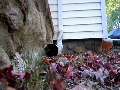 How to clean a drain pipe.