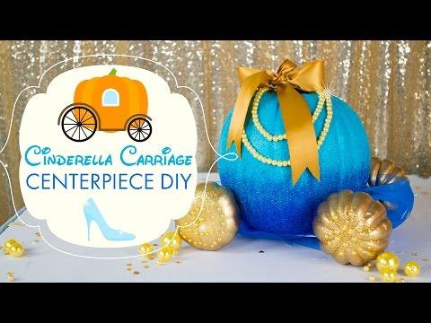 Cinderella's Carriage Party Centerpiece | BalsaCircle.com