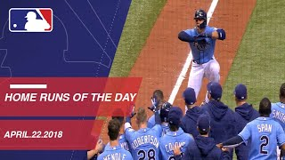 Check out all the home runs from 4/22/18