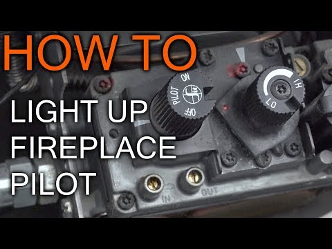 How to Light Pilot on Propane or gas fireplace