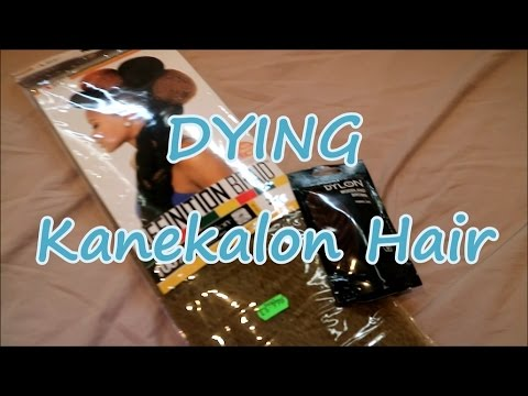 Dying Synthetic Hair