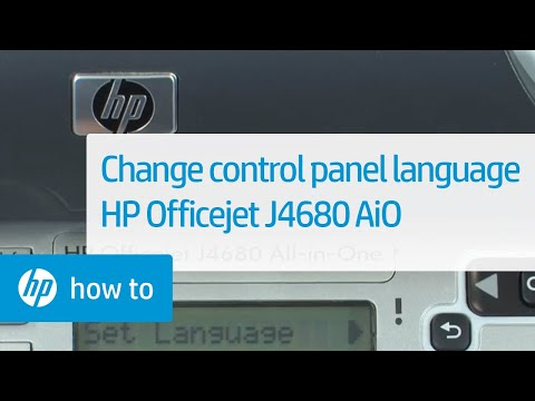 Change the Language on the Control Panel - HP Officejet J4680 All-in-One | HP Officejet | HP
