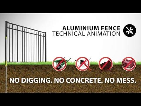 WamBam Aluminum Fence Install