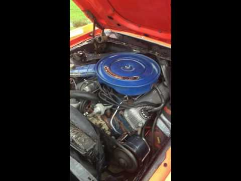 1970 Mercury Cougar Eliminator Stock# 522084 Motor Running
