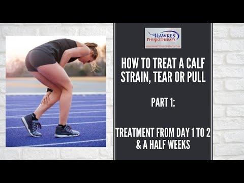 How to treat a calf strain, tear or pull. Part 1: Treatment from day 1 to 2 & a half weeks