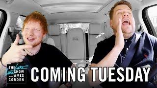 ed sheeran carpool karaoke first look late late in london