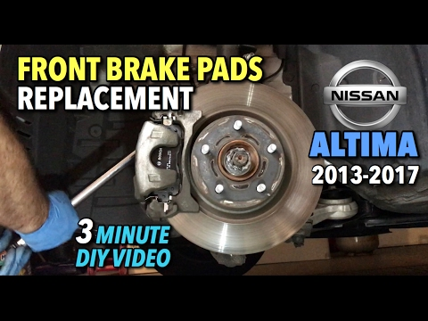 Nissan Altima Front Brake Pads Replacement 2014-2017 - 3 Minute DIY Video