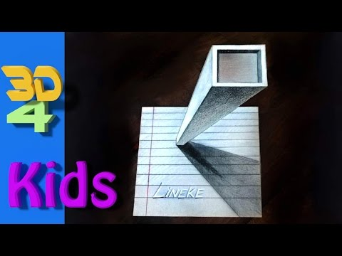 easy 3d drawing Draw Tower step by step for kids and beginners