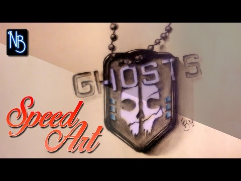 Speed Art Drawing - Call of Duty Ghosts Logo